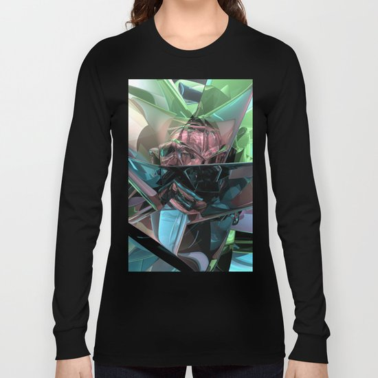 Colorful 3D Reflections Long Sleeve T-shirt