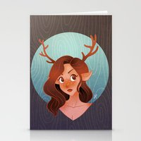 fawn Stationery Cards featuring Fawn by Lauren Draghetti
