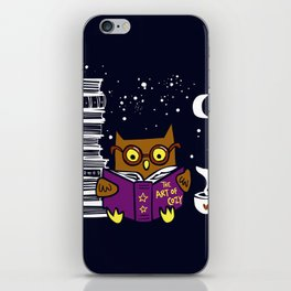 Owl Night Reader iPhone Skin
