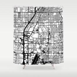 Las Vegas city map Shower Curtain