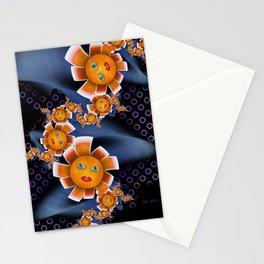 Orange Baby Flowers Stationery Cards