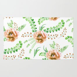Forest Meadow Love Rug