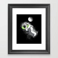 Astro Sleep Framed Art Print