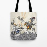 knight Tote Bags featuring Knight by JoeyDrawing