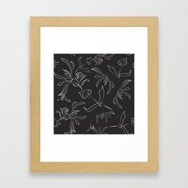 Hand Drawn Floral Framed Art Print