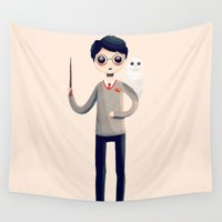 harry Wall Tapestries featuring Little Harry by Nan Lawson