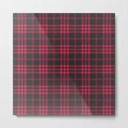Red and black tartan pattern Metal Print