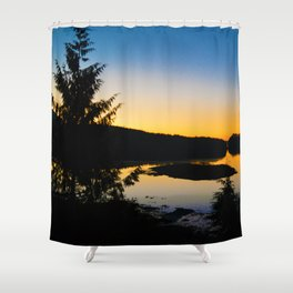 Sunrise in Ucluelet on Vancouver Island, BC Shower Curtain