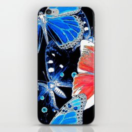 Artistic colorful flock of butterflies iPhone Skin