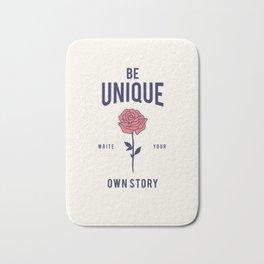 Cool Vintage Quote Be Unique Flower Rose Bath Mat