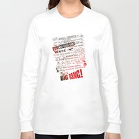 big bang Long Sleeve T-shirts featuring Big Bang Theory Lyrics by Nxolab