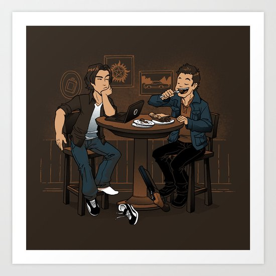 Downtime is Pie Time Art Print