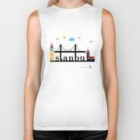 istanbul Biker Tanks featuring Istanbul.  by Irmak Berktas
