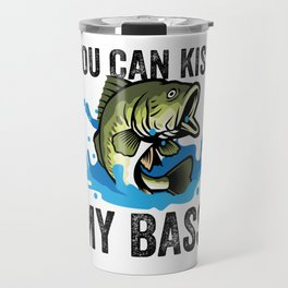 Fishing, Bass Fisherman, funny Design Travel Mug