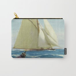 Vintage Sailing Sloop Yacht Painting (1910) Carry-All Pouch