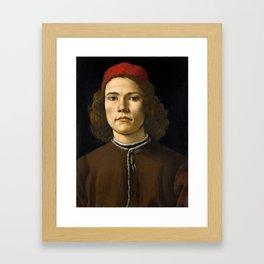 "Sandro Botticelli ""Portrait of a Young Man"" (II) Framed Art Print"
