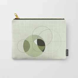 Elegant Circular Geometry Carry-All Pouch