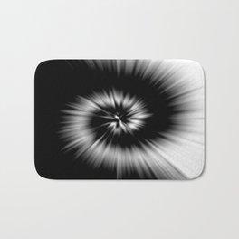 TIE DYE #1 (Black & White) Bath Mat