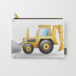 Yellow Excavating Tractor Icon Carry-All Pouch