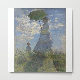 Woman with a Parasol - Madame Monet and Her Son, 1875 Metal Print
