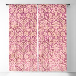 Vintage Antique Pink-Rose Wallpaper Pattern Blackout Curtain