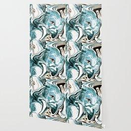 Liquid Teal Marble Wallpaper
