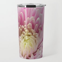 Pink Chrysanthemum In Bloom Travel Mug