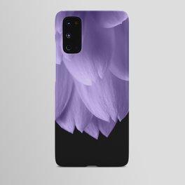 Ultra violet purple flower petals black Android Case