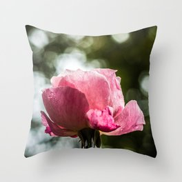 Pinkish Glory Throw Pillow