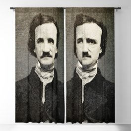Edgar Allan Poe Engraving Blackout Curtain