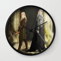 legolas Wall Clocks featuring Legolas & Thranduil by rdjpwns