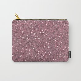 Maroon Glitter Carry-All Pouch