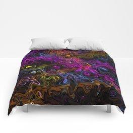 Psychedelic Rainbow Comforters