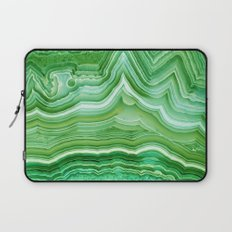 Agate crystal green Laptop Sleeve