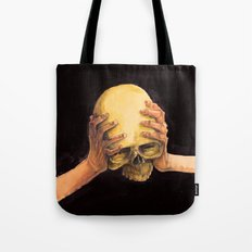 Head on Hands Tote Bag