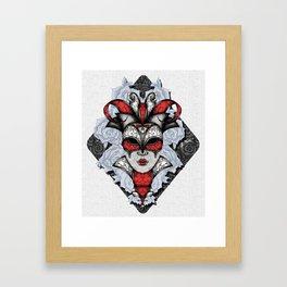 Queen of Harlequins Framed Art Print