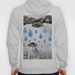 Raining Snow by Ama Hartman  Hoody