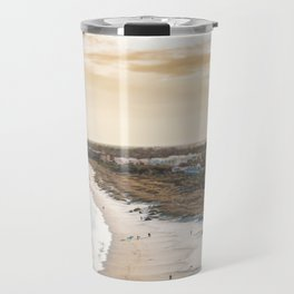 colorful, coastal, airial beach sunset photography, California boho art / print Travel Mug