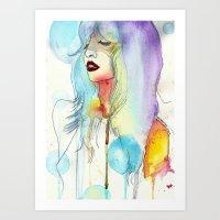 melissa smith Art Prints featuring Melissa Stastiuk by Bea Barnachea