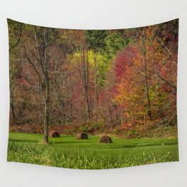 Lonely Bails of Color Wall Tapestry