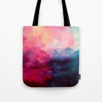 abstract art Tote Bags featuring Reassurance by Caleb Troy