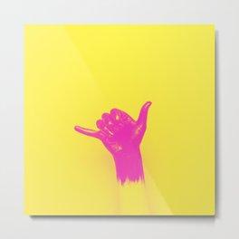 Shaka surf gesture Metal Print