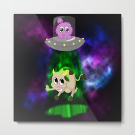 Fly Me to the Moon! Metal Print