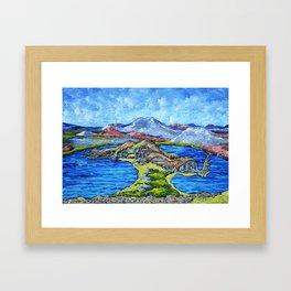 Isla Bartolomé Galapagos Framed Art Print