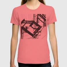 The Power of a Spiral Womens Fitted Tee Pomegranate SMALL