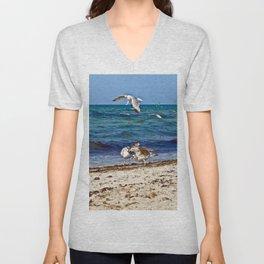 Seagulls screaming Unisex V-Neck