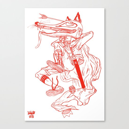 Escape Of Fox King Canvas Print