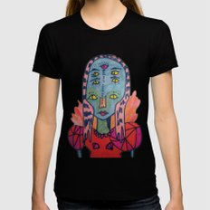 ALIEN QUEEN Womens Fitted Tee Black LARGE