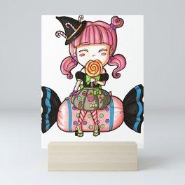 Cute Candy Witch Mini Art Print