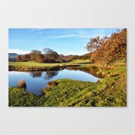 River Brathay Reflections Canvas Print